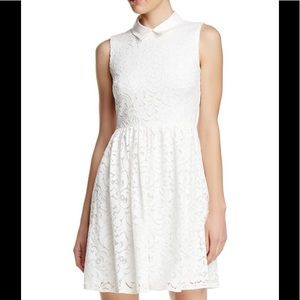 Betsey Johnson White Cream Lace Dress Size 8